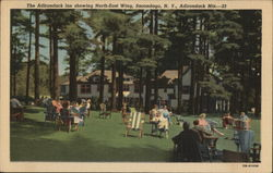 The adirondack Inn Showing Nort-East Wing, Adirondack Mts.
