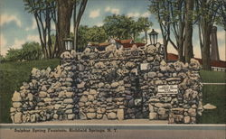 Sulphur Springs Fountain Postcard