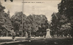 Hamburg Park at Lake Street Postcard
