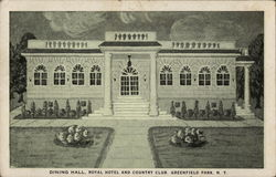 Dining Hall, Royal Hotel and Countrty Club Postcard