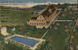 The Empire Hotel of Ferndale, New York Postcard