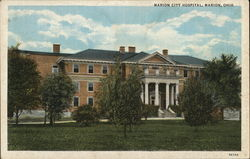Marion City Hospital Postcard