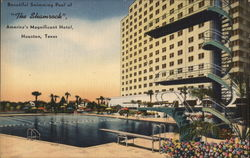 Beautiful swimming pool of The Shamrock, America's magnificent hotel