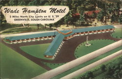 Wade Hampton Motel Postcard
