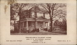 Travelers Tourist Home Postcard