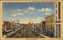 Hay Street, Looking West, Home of Fort Bragg