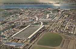 Aerial View of Ford Motor Car Company Factory