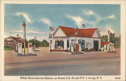 White Horse Service Station, on Route US 20 and NY 5 Postcard