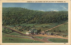 Crossing of Lee Highway and Skyline Drive