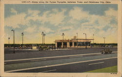 Scene Along the Turner Turnpike Between Tulsa and Oklahoma City