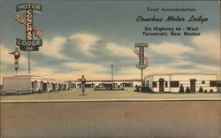 Conchas Motor Lodge Postcard