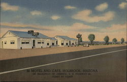 66 Motel and Cafe Postcard