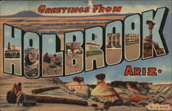 Greetings from Holbrook, Arizona Postcard