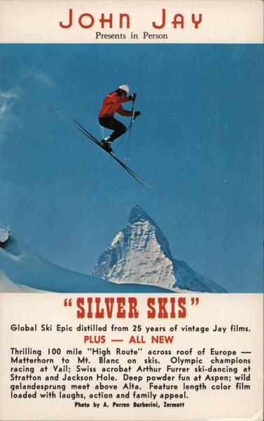 John Jay Presents in Person, Silver Skis Movie and Television Advertising