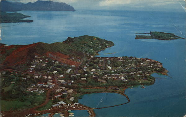 Aerial View of Kaneohe Peninsula Honolulu Hawaii