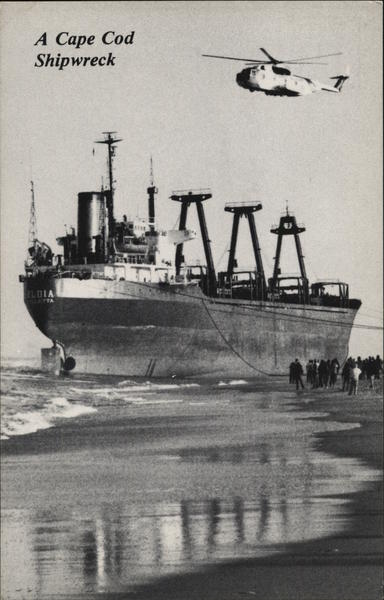 A Cape Cod Shipwreck, The Maltese Freighter Eldia Nauset Beach Massachusetts