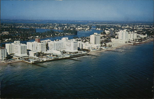Airview of North Beach Miami Beach Florida