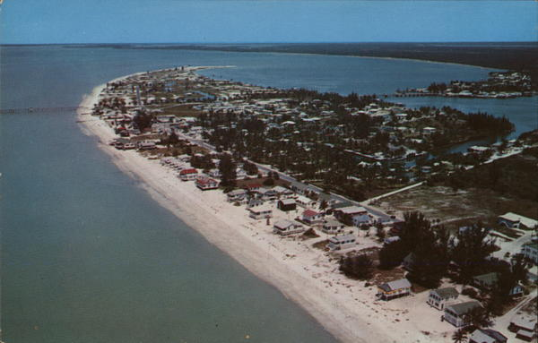 Aerial View of Beach Fort Myers Florida
