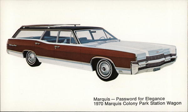 1970 Marquis Colony Park Station Wagon Cars