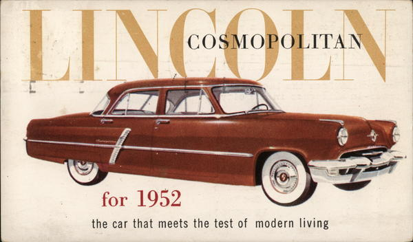 Lincoln Cosmopolitan for 1952 Cars