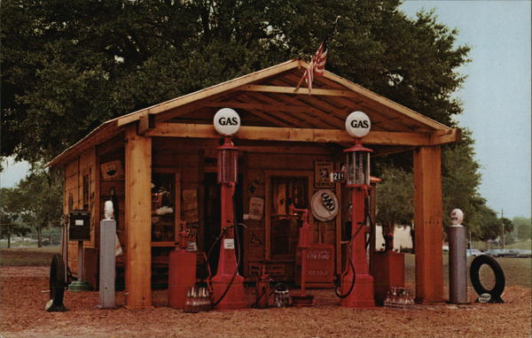 Gus Hicks Antique Gas Station Tampa Florida
