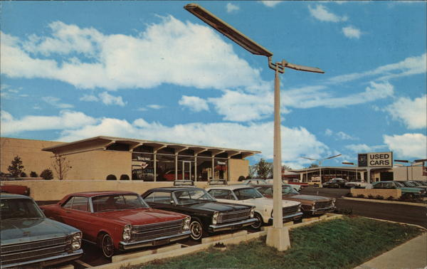 A-1 Used Cars at Young Ford Charlotte, NC Postcard