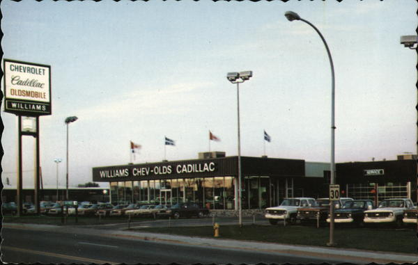 Williams Chev Olds Cadillac Ltee Hull Pq Canada Quebec Postcard