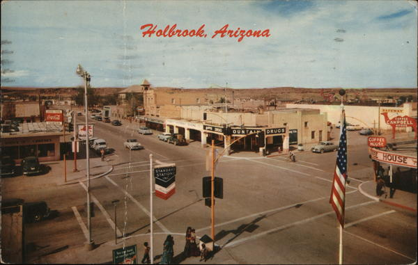 Center of Town, Holbrook. Arizona