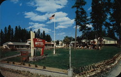 Pines Motel Postcard