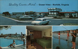 Quality Courts Motel Postcard