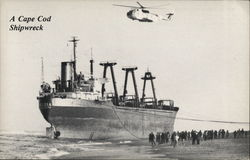 "The Maltese Freighter ""Eldia"" Shipwreck Postcard"