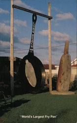 World's Largest Fry Pan Postcard