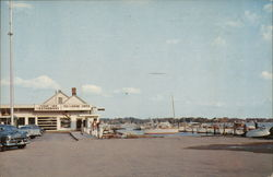 Rex Marine Center & Lyon's Pier Restaurant Postcard