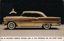 General Motors 50 Millionth Car, 1955 Chevrolet Bel Air Sport Coupe Postcard