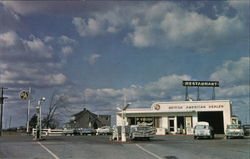 Greetings from Viking Service Station & Restaurant, Q.E. Way Postcard