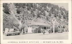 Carroll Summit Station, On Hiway U.S. 50 Postcard