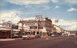 Andy Devine Street and Highway 66 Through Downtown Postcard