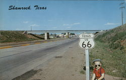 Texas US 66 Entering Shamrock