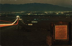 Spectacular Panoramic View Approaching from the West at Dusk on Famous Route 66