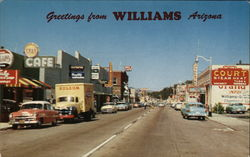 Greetings From Williams Postcard