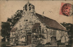 View of Old Church Postcard