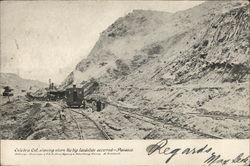 Culebra cut, showing where the big landslide occured - Panama Postcard