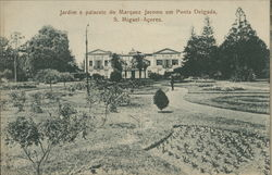 Garden of the palace of Marquez Jacome at Ponta Delgada