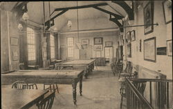 Billiard Room, Caxton Home Postcard
