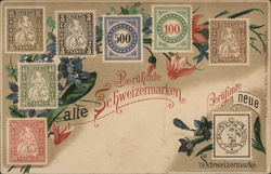 Famous Swiss stamps