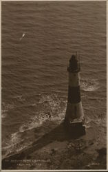 Beachy head lighthouse, from the cliffs Postcard