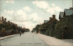 London Road, Coalville Postcard