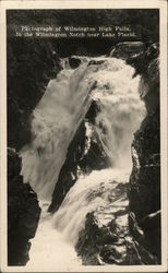 Photograph of Wilmington high falls in the Wilmington notch near Lake Placid