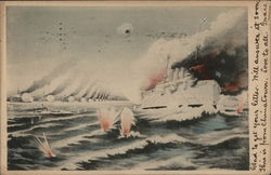 View of firing in the sea
