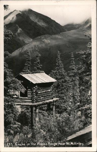 Cache in the Alaska Range near Mt. McKinley